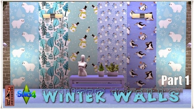 Sims 4 Winter Walls at Annett's Sims 4 Welt