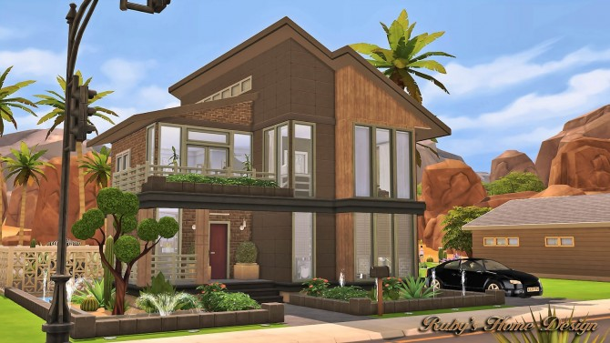 Sims 4 Modern Industrial Home at Ruby's Home Design