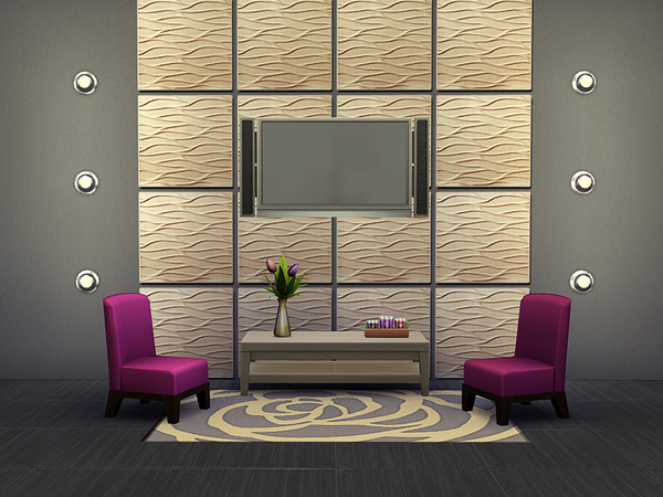 Wavy Wall Tiles by Rirann at TSR image 276 Sims 4 Updates