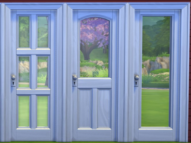 Sims 4 12 Wooden Panel Doors Restored To New! by melbrewer367 at Mod The Sims