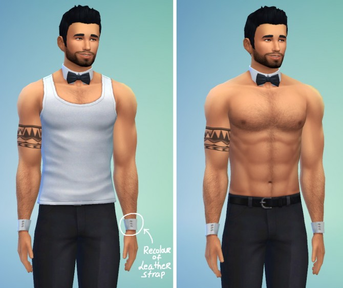 Sims 4 Bowtie necklace + cuff bracelets at LumiaLover Sims