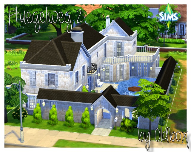 Sims 4 Houses and walls by Oldbox at All 4 Sims
