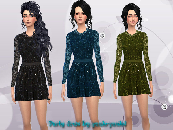 Party dress by paulo paulol at TSR image 2814 Sims 4 Updates