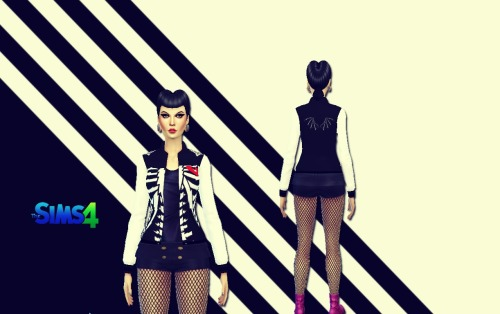 Skeleton jacket at Sims 4 Ego image 2818 Sims 4 Updates