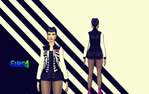 Sims 4 Skeleton jacket at Sims 4 Ego
