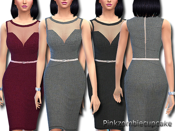 Sims 4 Day at the office dress by Pinkzombiecupcakes at TSR