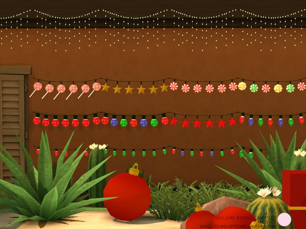Holiday String Lamp Set by DOT at TSR image 286 Sims 4 Updates