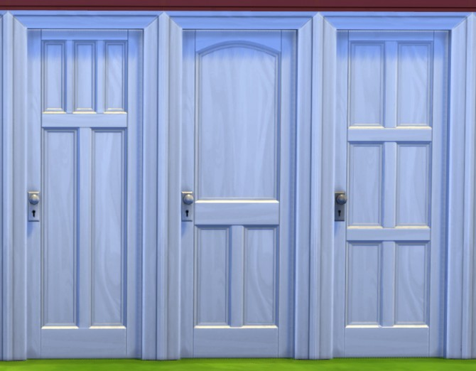 12 Wooden Panel Doors Restored To New By Melbrewer367 At Mod The Sims 187 Sims 4 Updates