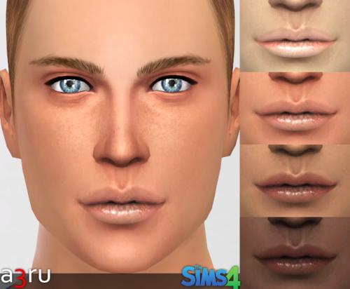 Sims 4 Lips RJ075 for YAM & YAF at A3RU