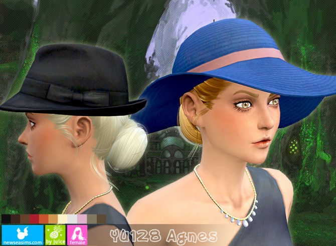 Sims 4 YU128 Agnes hair (pay) at Newsea Sims 4