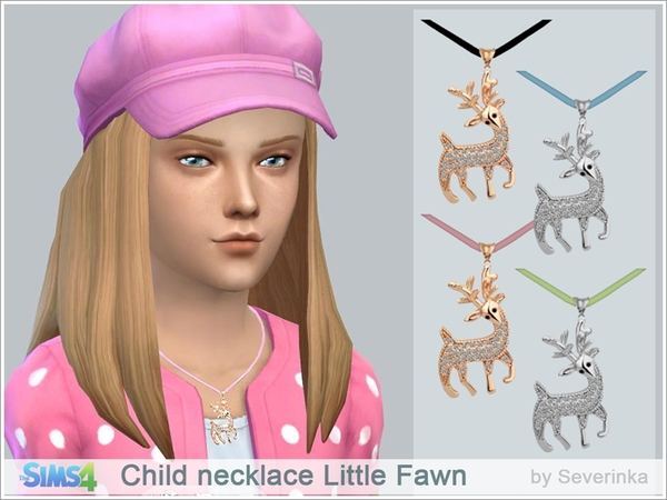 Sims 4 Child necklace Little Fawn by Severinka at TSR