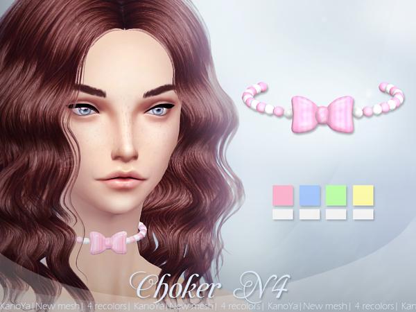 Choker N4 by Kanoya at TSR image 3029 Sims 4 Updates