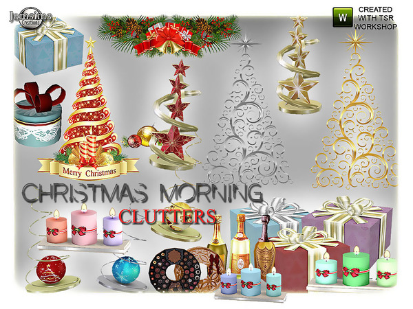 Sims 4 Christmas morning clutters by Jomsims at TSR
