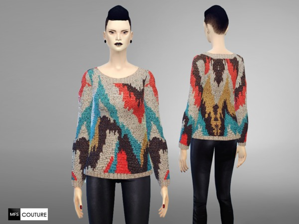 Sims 4 MFS ColorPop Sweater by MissFortune at TSR