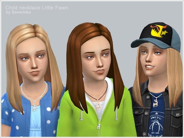 Child necklace Little Fawn by Severinka at TSR image 3114 Sims 4 Updates
