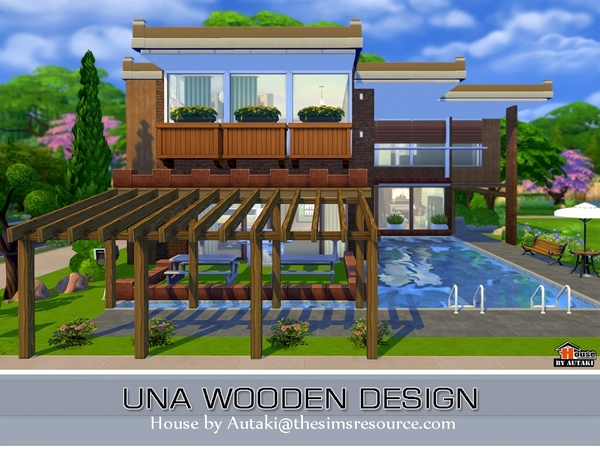 Sims 4 Home Design house building contest please check in if you entered page 4 sims 4 sims and house Una Wooden Design House By Autaki At Tsrsims 4 Updates