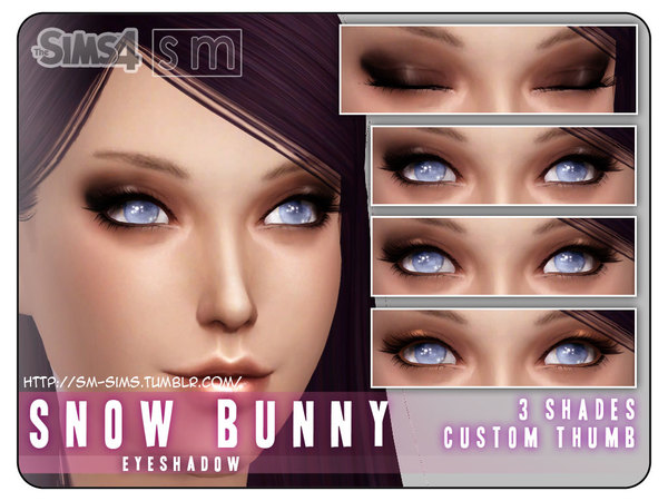 Snow Bunny eyeshadow by Screaming Mustard at TSR image 3130 Sims 4 Updates