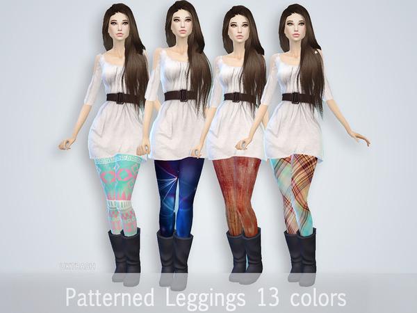 Pattern Leggings by UKTRASH at TSR image 3139 Sims 4 Updates