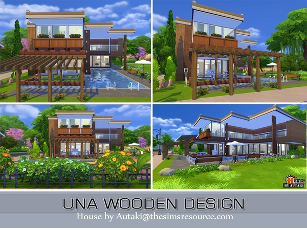 Una Wooden Design house by Autaki at TSR image 3213 Sims 4 Updates