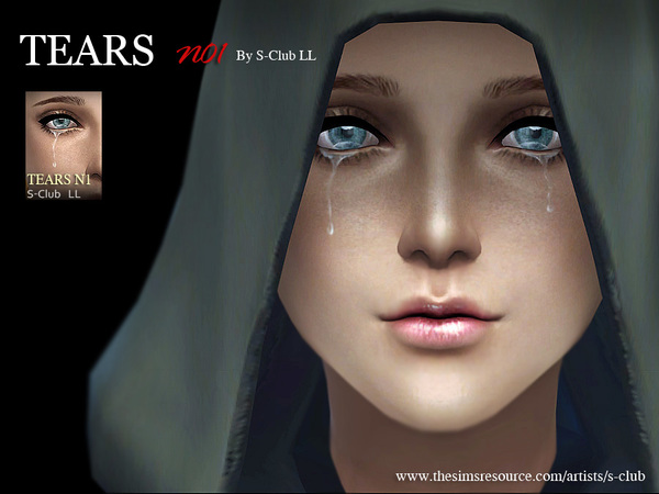 Tears 01 by S Club LL at TSR image 325 Sims 4 Updates
