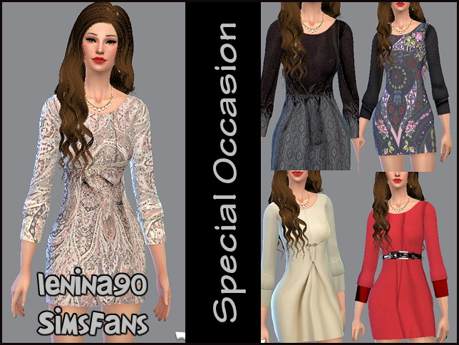 Sims 4 Special Occasion dress by lenina 90 at Sims Fans