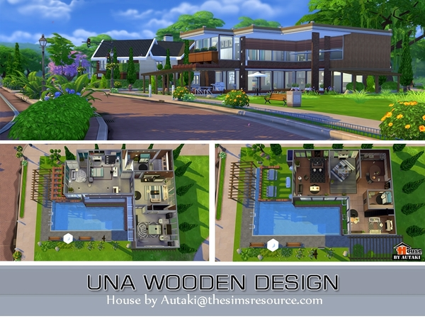Una Wooden Design house by Autaki at TSR image 3312 Sims 4 Updates