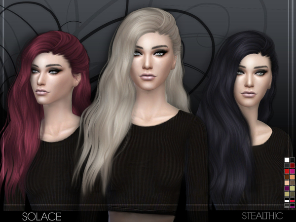 Solace female hair by Stealthic at TSR image 3326 Sims 4 Updates