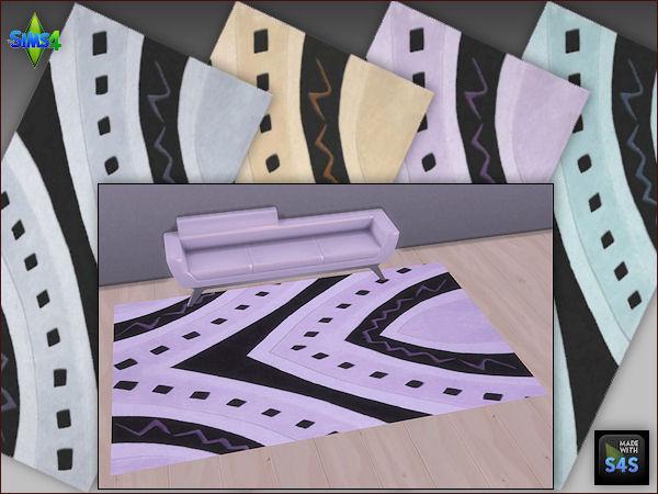Sims 4 4 rug sets in 4 colors by Mabra at Arte Della Vita