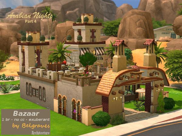 Bazaar lot by Leander Belgraves at TSR image 340 Sims 4 Updates