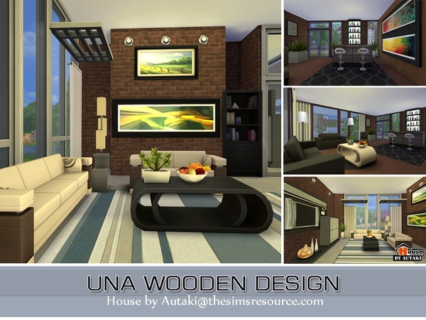 Una Wooden Design house by Autaki at TSR image 3411 Sims 4 Updates