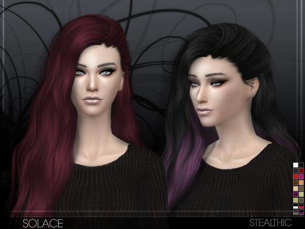 Sims 4 Solace female hair by Stealthic at TSR