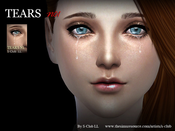 Tears 01 by S Club LL at TSR image 346 Sims 4 Updates
