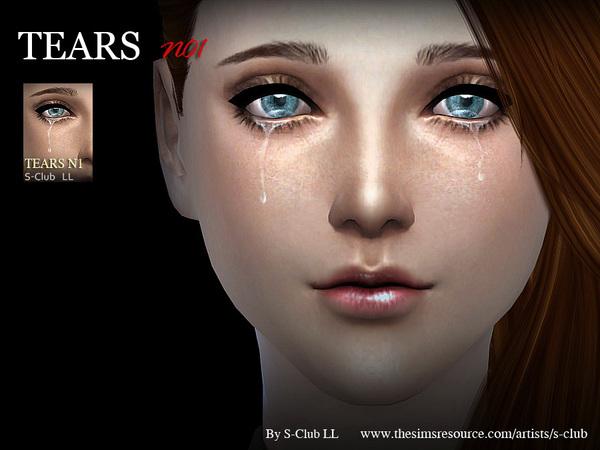 Sims 4 Tears 01 by S Club LL at TSR
