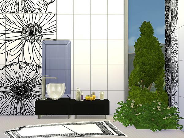 Sims 4 Bathroom Drop by Pilar at TSR