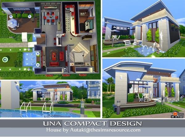 Una Compact Design by Autaki at TSR image 349 Sims 4 Updates