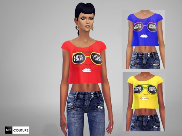 Sims 4 MFS Little Tokyo Top by MissFortune at TSR