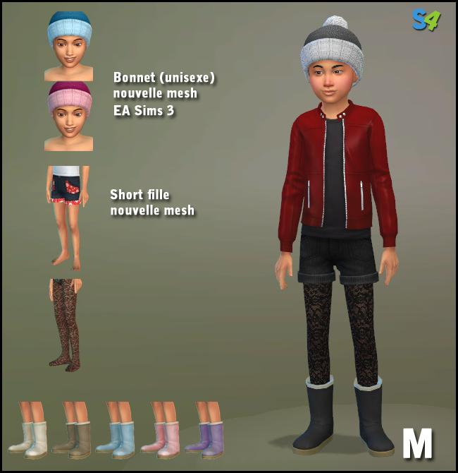 Sims 4 Cap and shorts at Mango Sims