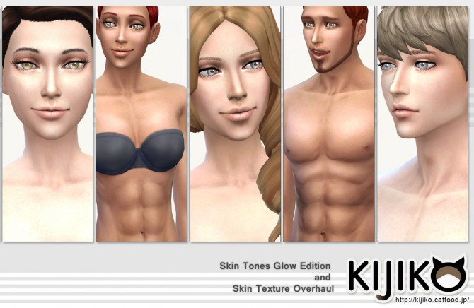 Skin Tones Glow Edition and Texture Overhaul at Kijiko image 3528 Sims 4 Updates