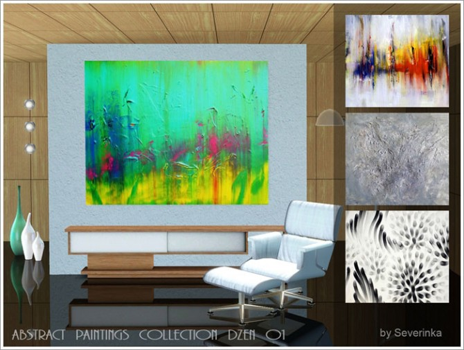 Sims 4 Abstract paintings collection DZEN at Sims by Severinka