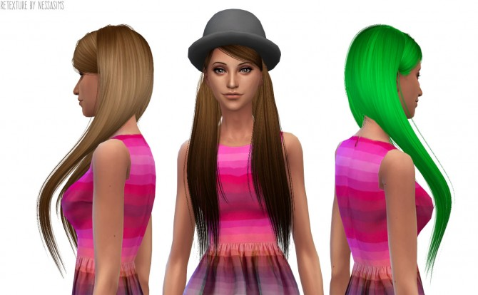 Sims 4 8 retextures each hair in 40 colors at Nessa Sims