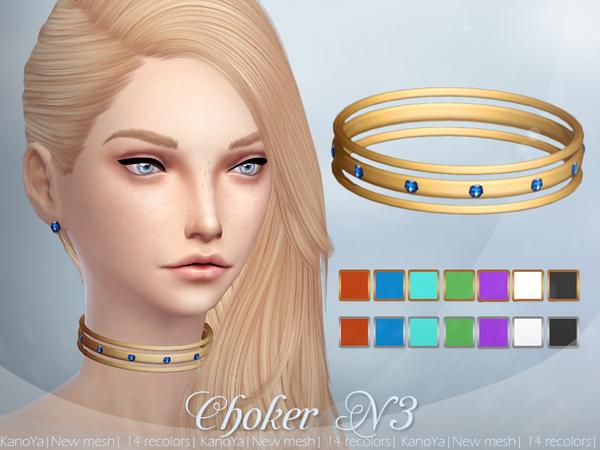 Sims 4 Choker N3 by KanoYa at TSR