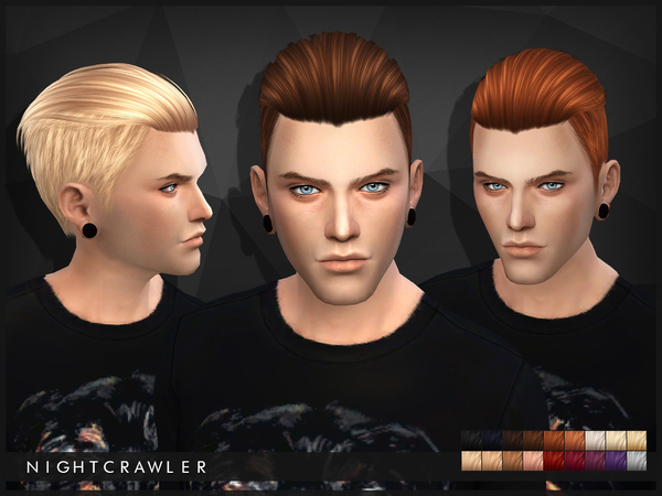 Sims 4 Hair 03 by Nightcrawler at TSR
