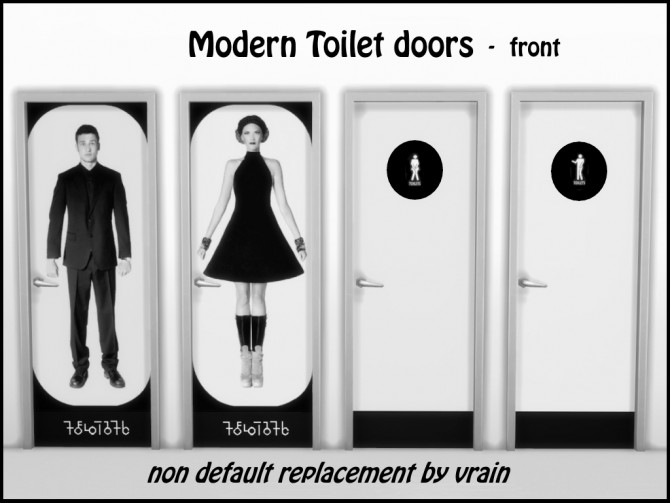 Modern toilet doors by Vrain at Mod The Sims image 3825 Sims 4 Updates
