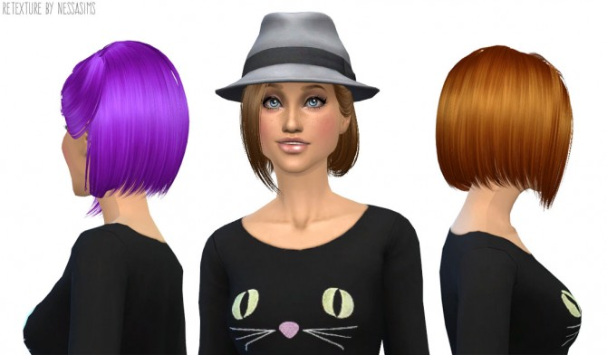 8 retextures each hair in 40 colors at Nessa Sims image 3831 Sims 4 Updates