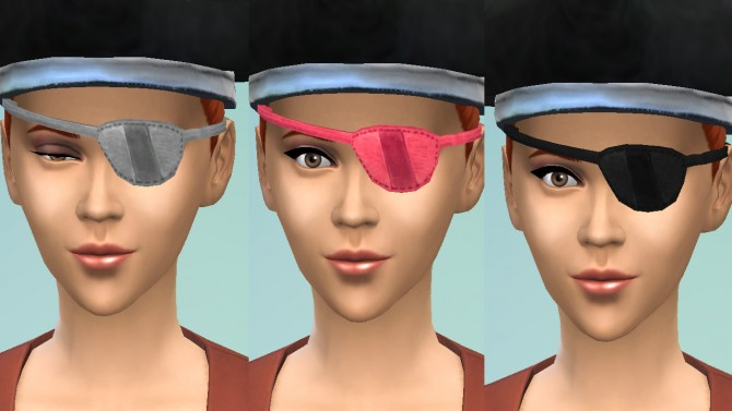 Pirate eyepatch conversion by necrodog at Mod The Sims image 389 Sims 4 Updates