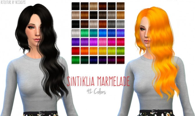 8 retextures each hair in 40 colors at Nessa Sims image 3930 Sims 4 Updates