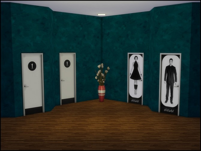 Modern toilet doors by Vrain at Mod The Sims image 4021 Sims 4 Updates