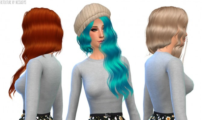8 retextures each hair in 40 colors at Nessa Sims image 4027 Sims 4 Updates