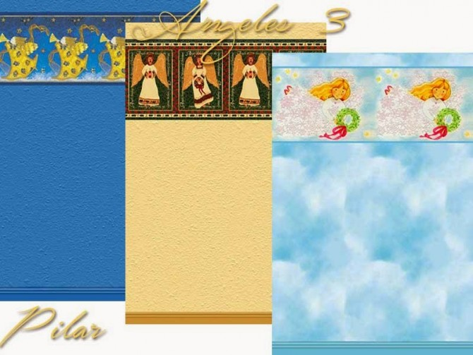 Sims 4 Wall Angeles by Pilar at SimControl