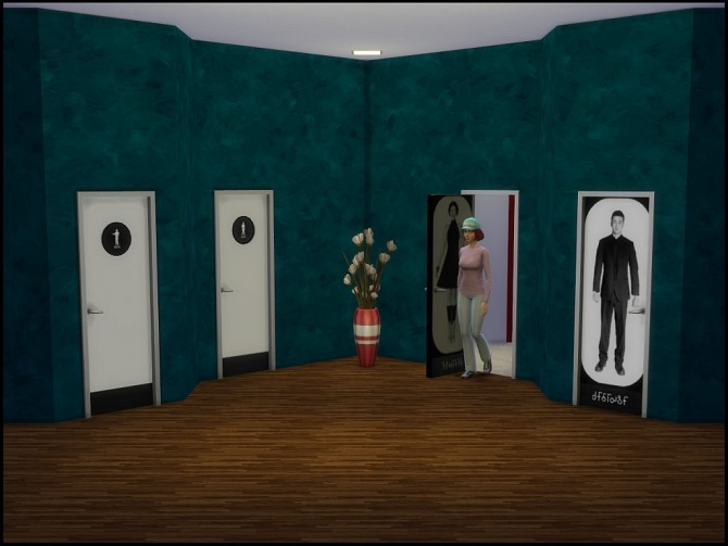 Sims 4 Modern toilet doors by Vrain at Mod The Sims
